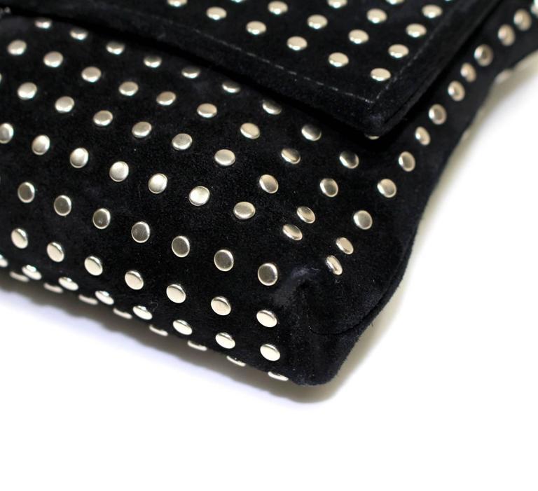 Alexander McQueen Black Suede Clutch Cross Body Bag 5