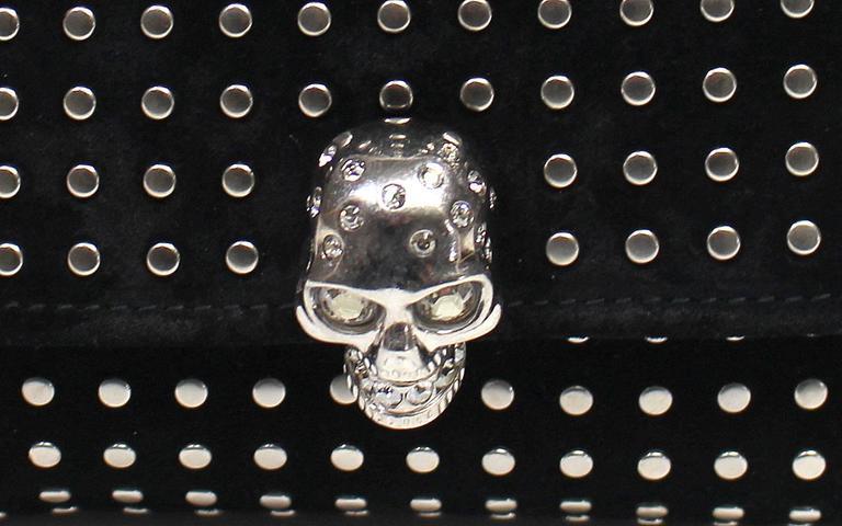 Alexander McQueen Black Suede Clutch Cross Body Bag 6
