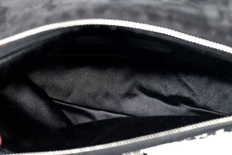 Alexander McQueen Black Suede Clutch Cross Body Bag 7