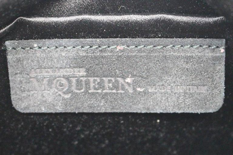 Alexander McQueen Black Suede Clutch Cross Body Bag 8