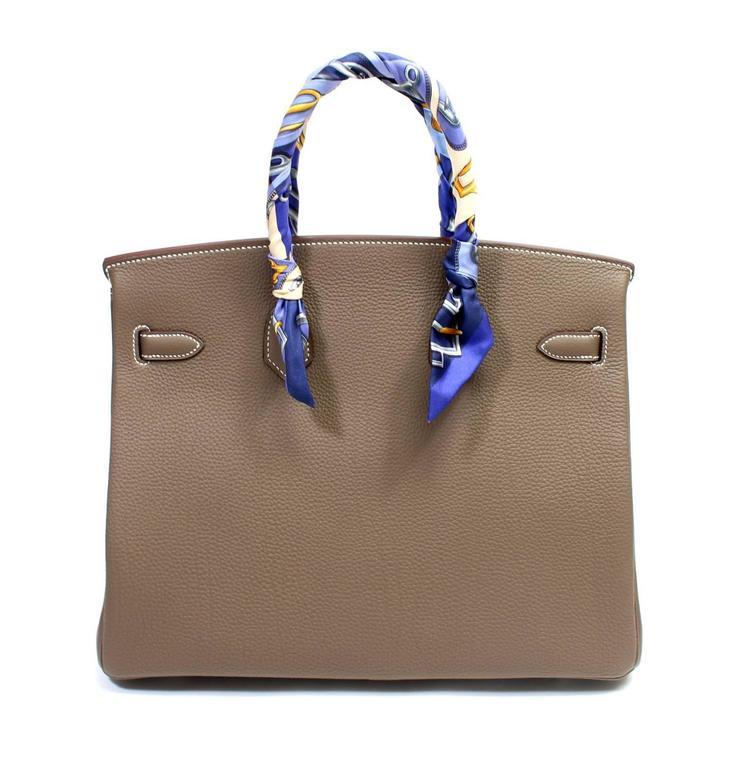 Hermès Etoupe Togo 35 cm Birkin Bag with Palladium Hardware 2