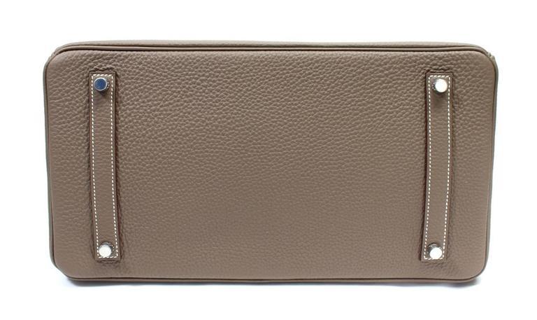 Hermès Etoupe Togo 35 cm Birkin Bag with Palladium Hardware 4