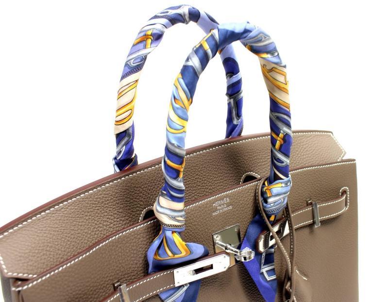 Hermès Etoupe Togo 35 cm Birkin Bag with Palladium Hardware 5
