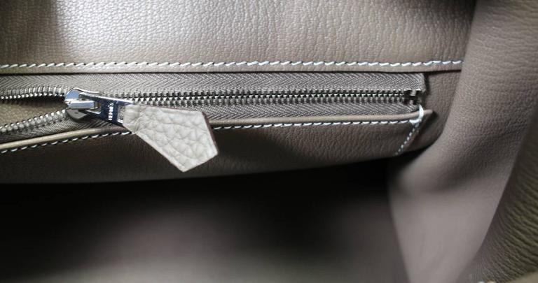 Hermès Etoupe Togo 35 cm Birkin Bag with Palladium Hardware 8