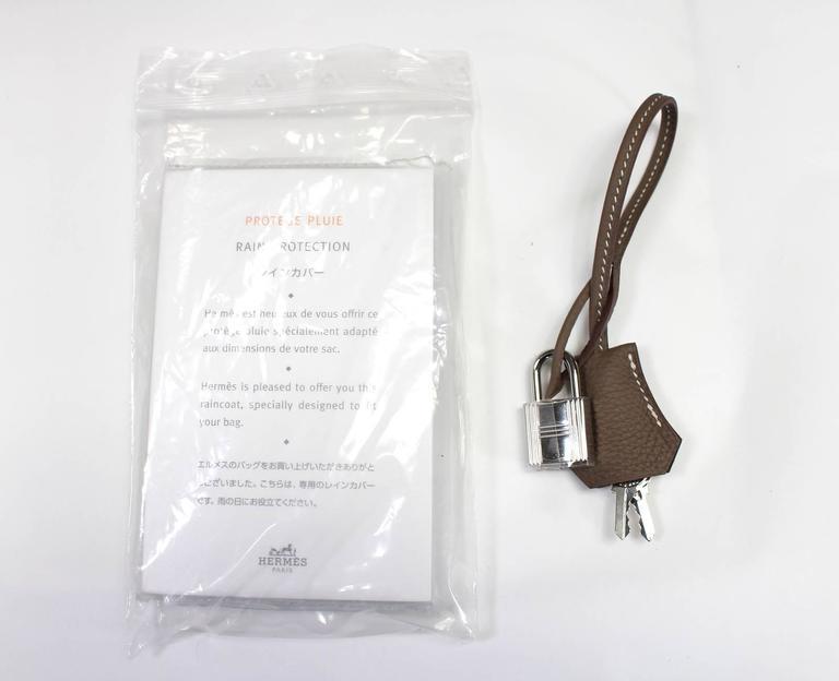 Hermès Etoupe Togo 35 cm Birkin Bag with Palladium Hardware 9