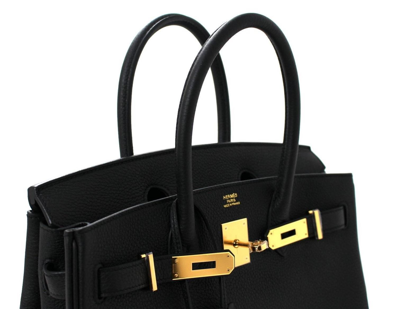 birkin knockof fhermes - Hermes Birkin Bag- Black Togo, 30 cm with Gold at 1stdibs