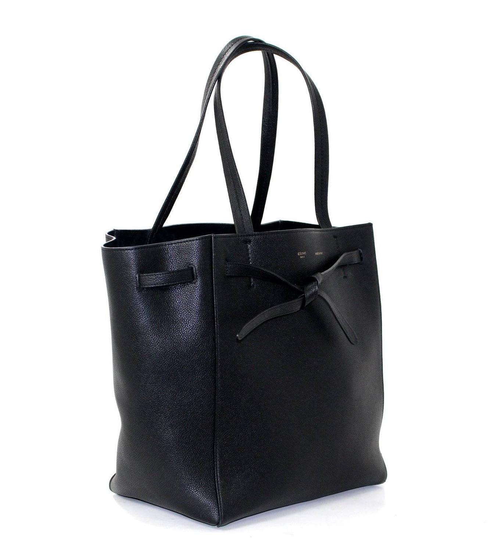 faux alligator luggage - Celine Black Calfskin Cabas Phantom Tote Bag at 1stdibs