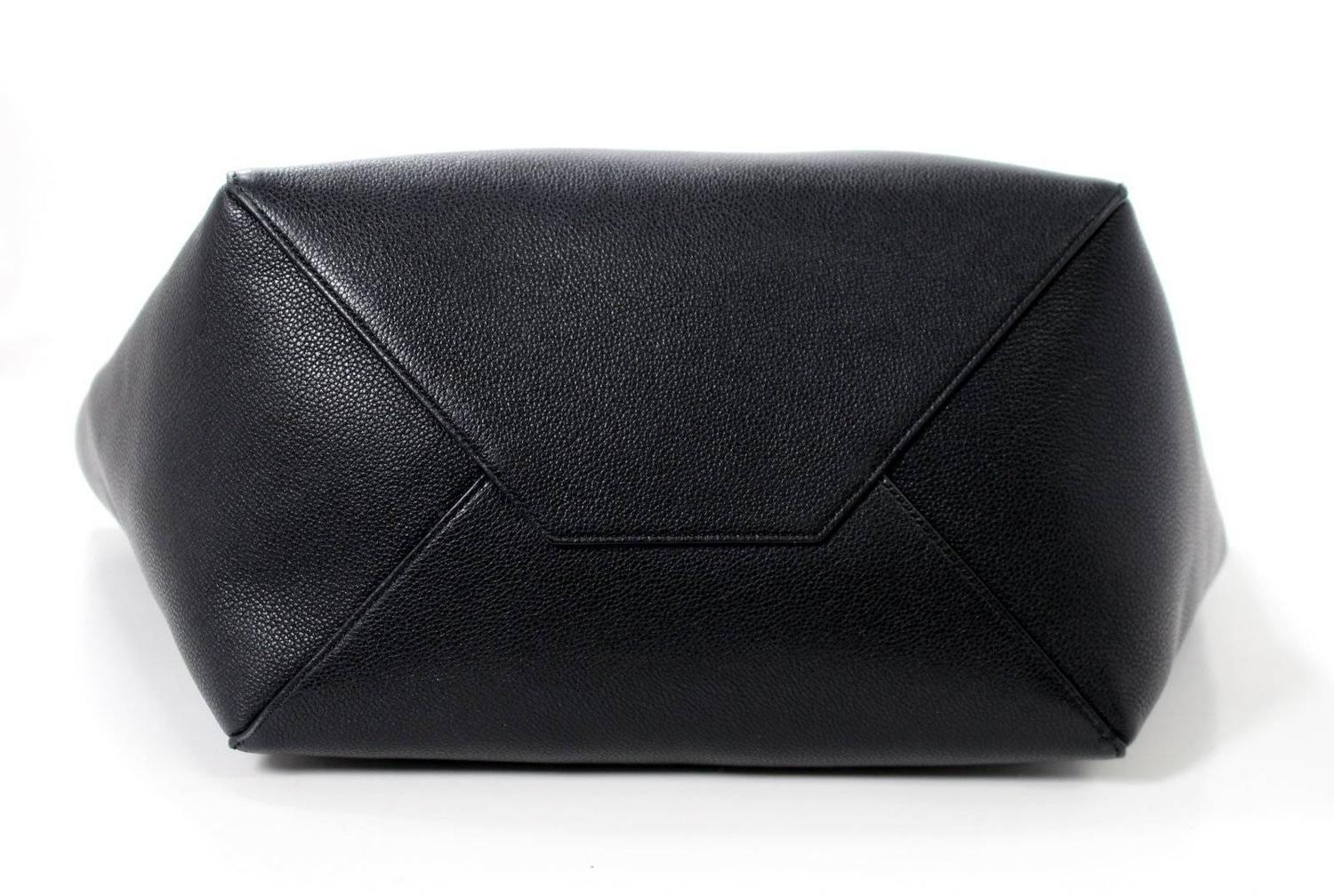 celine purse cost - Celine Black Calfskin Cabas Phantom Tote Bag at 1stdibs