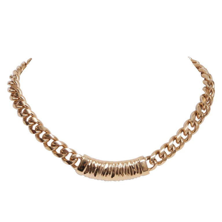 Givenchy Gold Chain Necklace 1