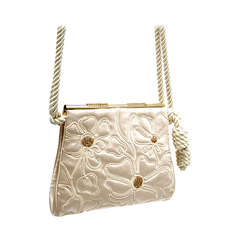 Judith Leiber Silk Satin Purse