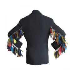 Ozbek Feather Jacket