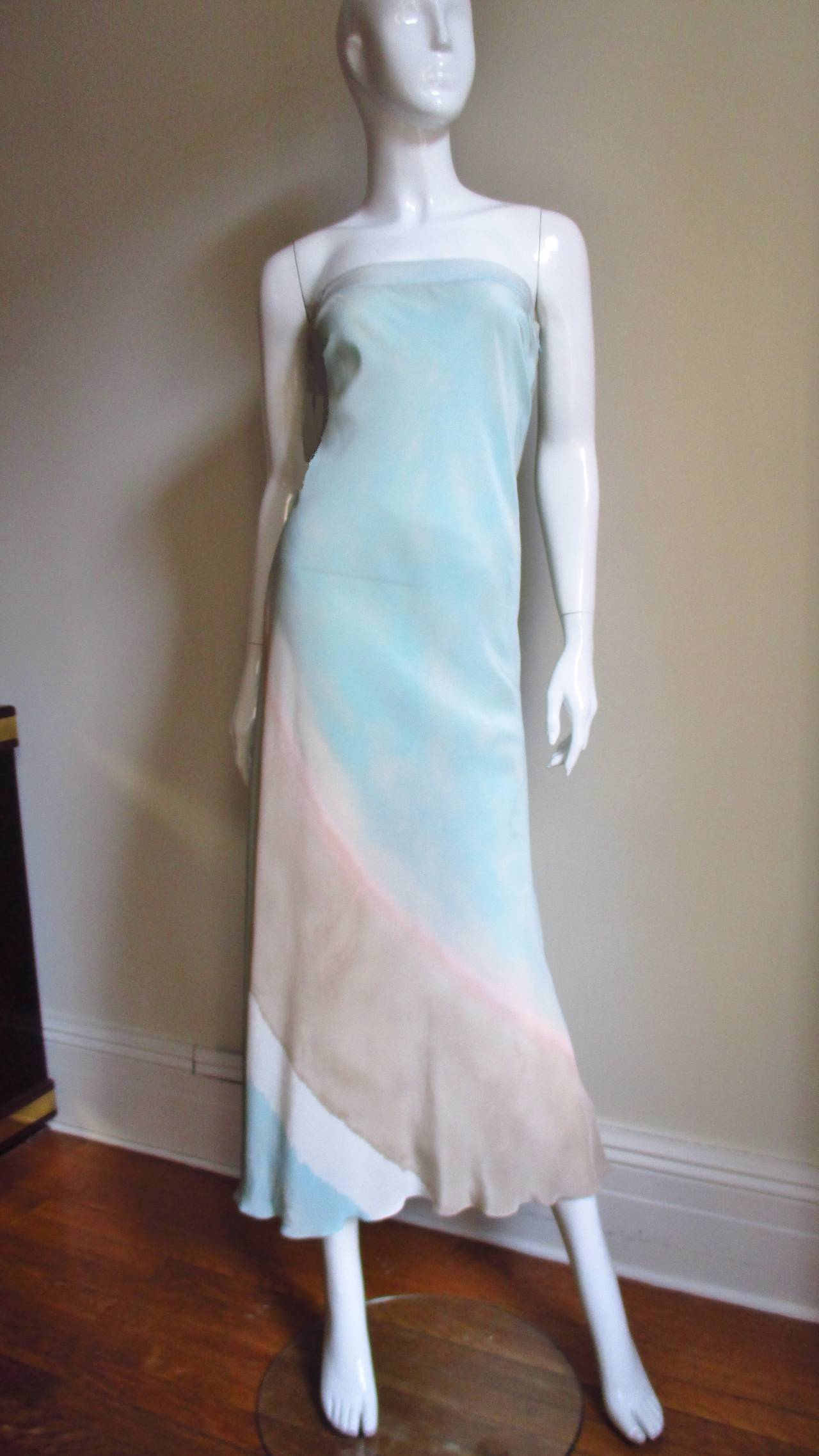 Christian Lacroix Strapless Silk Dress 5