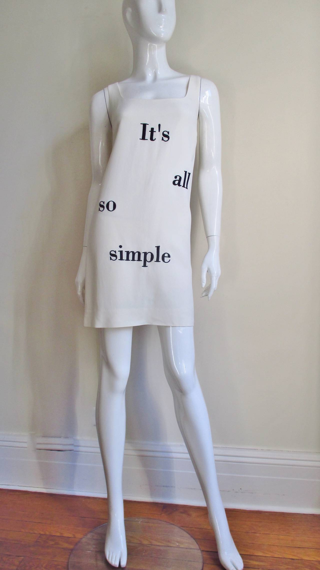 "Moschino Couture "" It's all so simple "" Embroidered Dress & Coat For Sale 1"