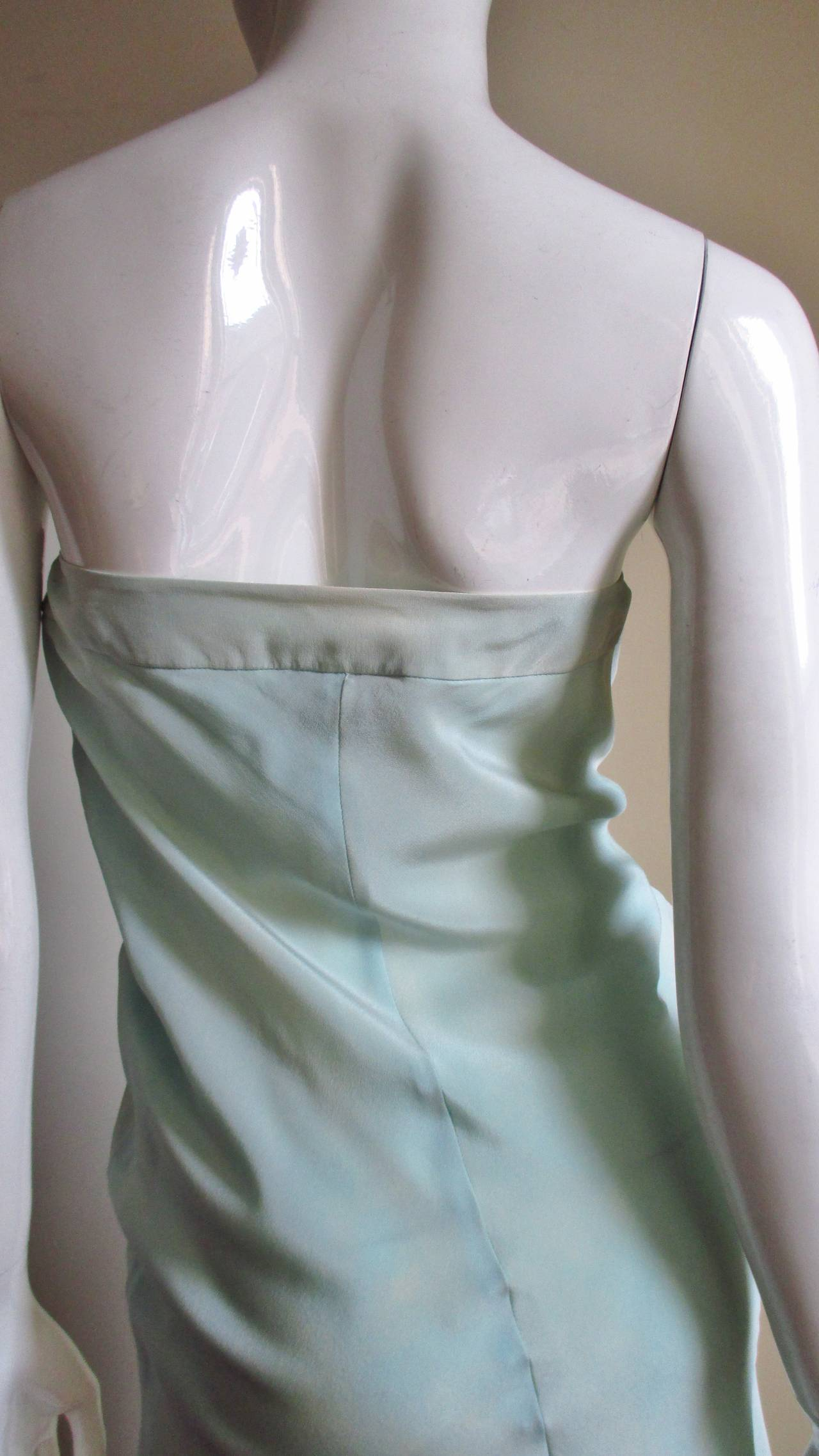 Christian Lacroix Strapless Silk Dress 6