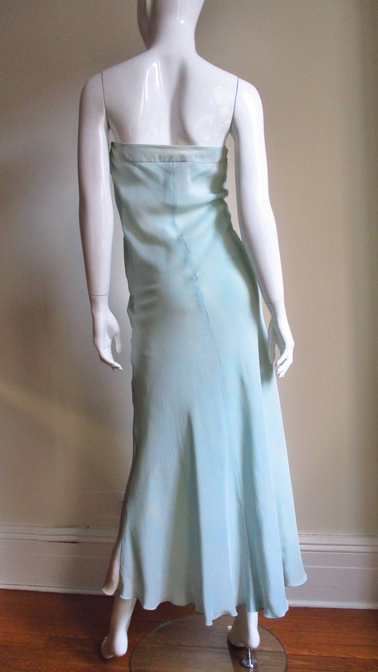 Christian Lacroix Strapless Silk Dress 8