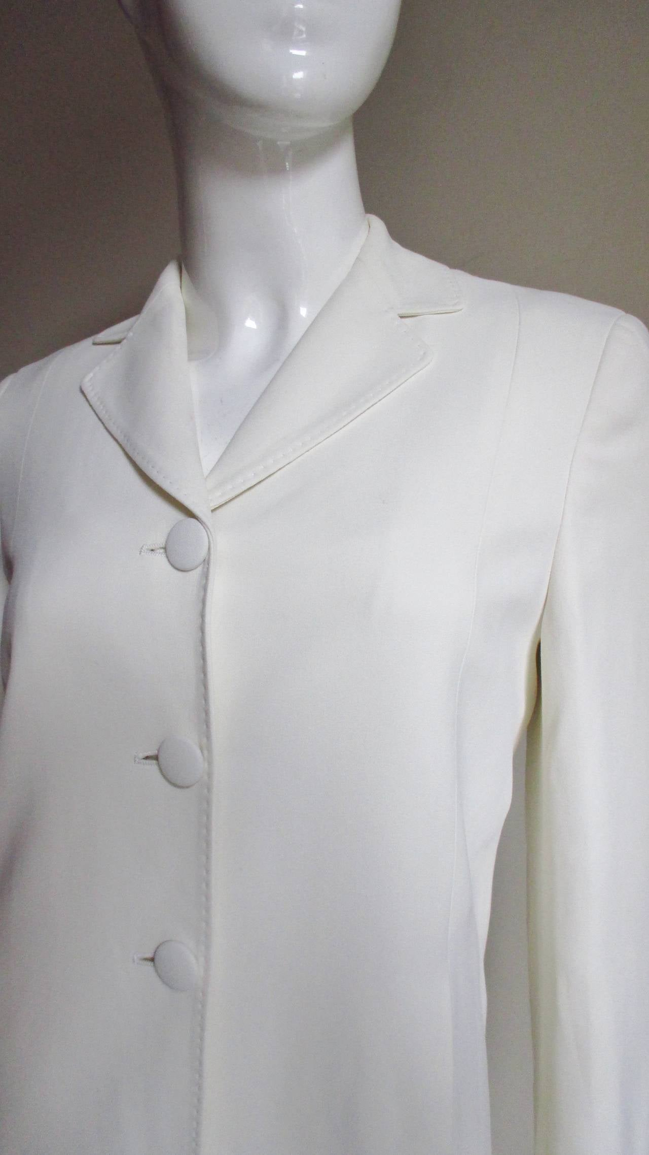 "Moschino Couture "" It's all so simple "" Embroidered Dress & Coat In Excellent Condition For Sale In New York, NY"