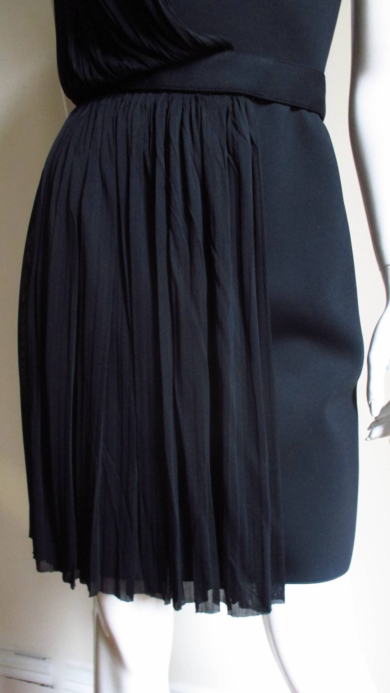 Versace Silk Draped Dress With Studs In New never worn Condition For Sale In New York, NY
