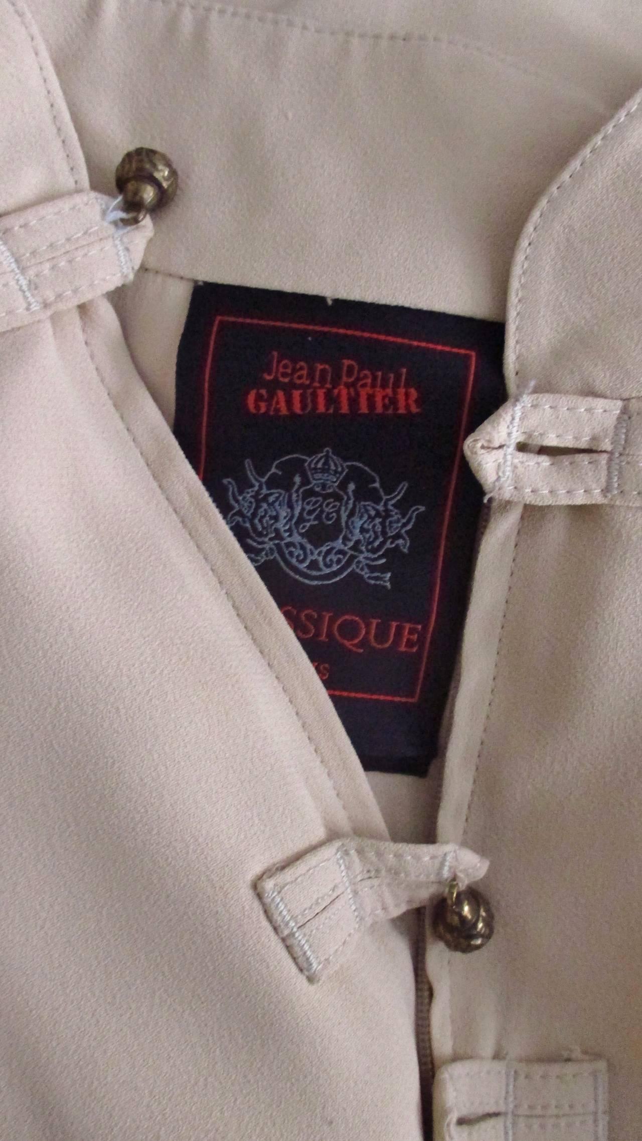 Vintage Gaultier Open Front Overdress 9
