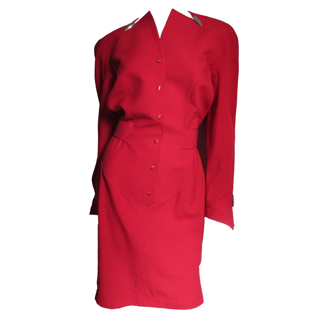 1980s Thierry Mugler Dress With Hardware