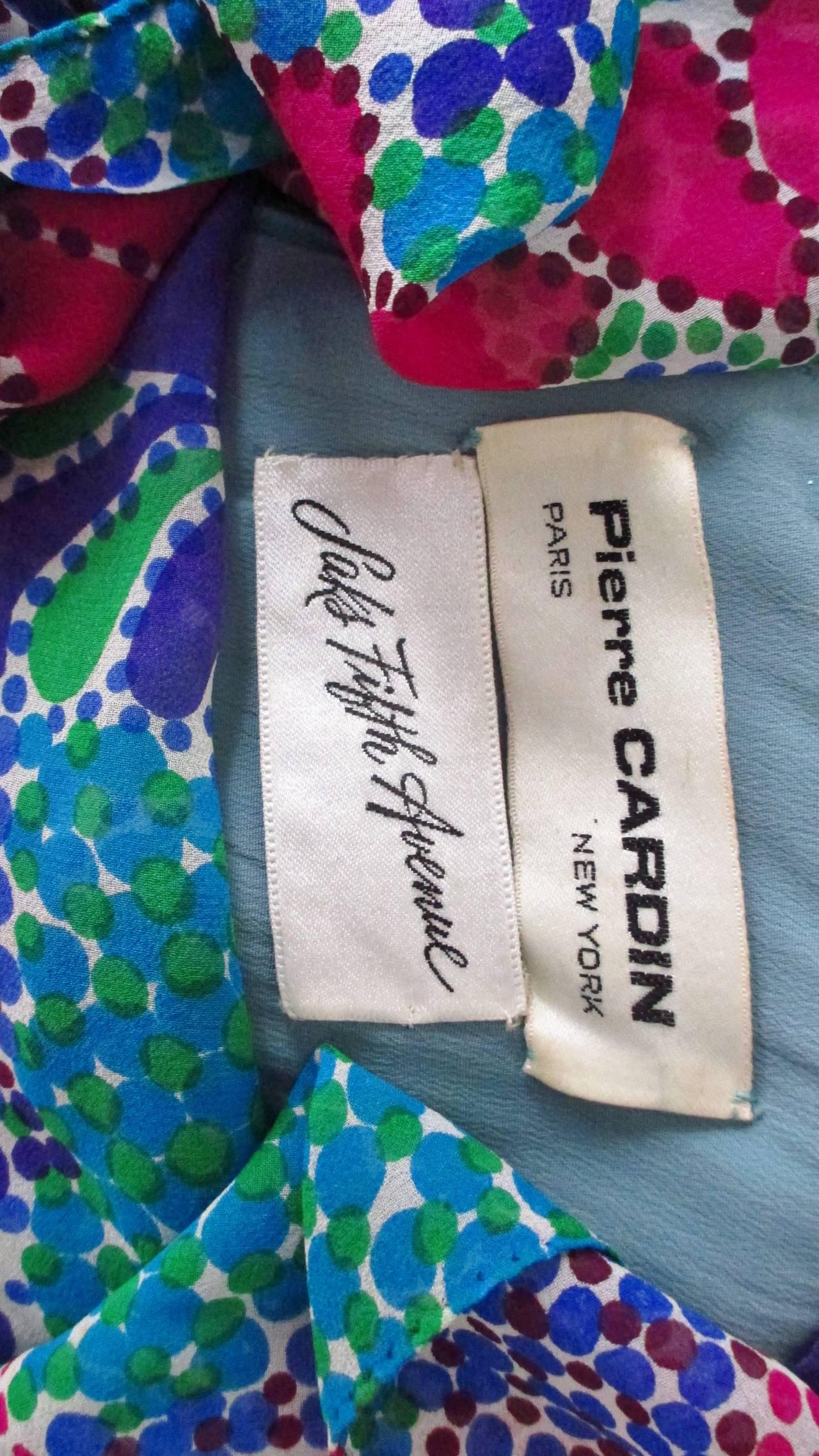 1960s Pierre Cardin Mod Silk Dress 10