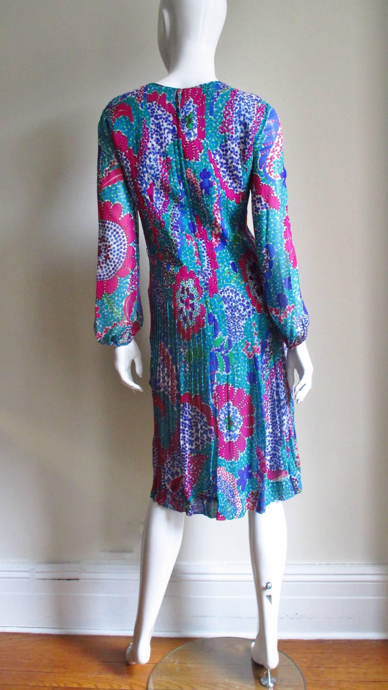 1960s Pierre Cardin Mod Silk Dress 8