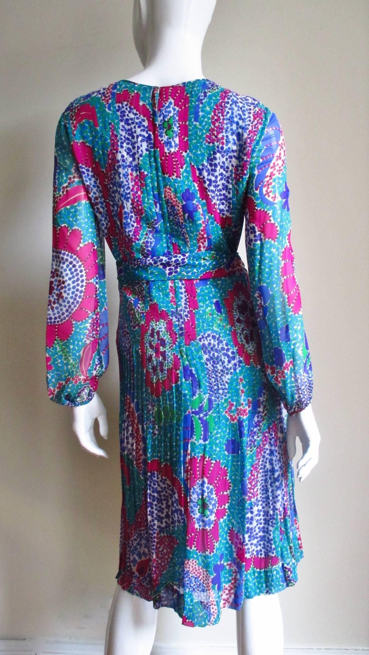 1960s Pierre Cardin Mod Silk Dress 9