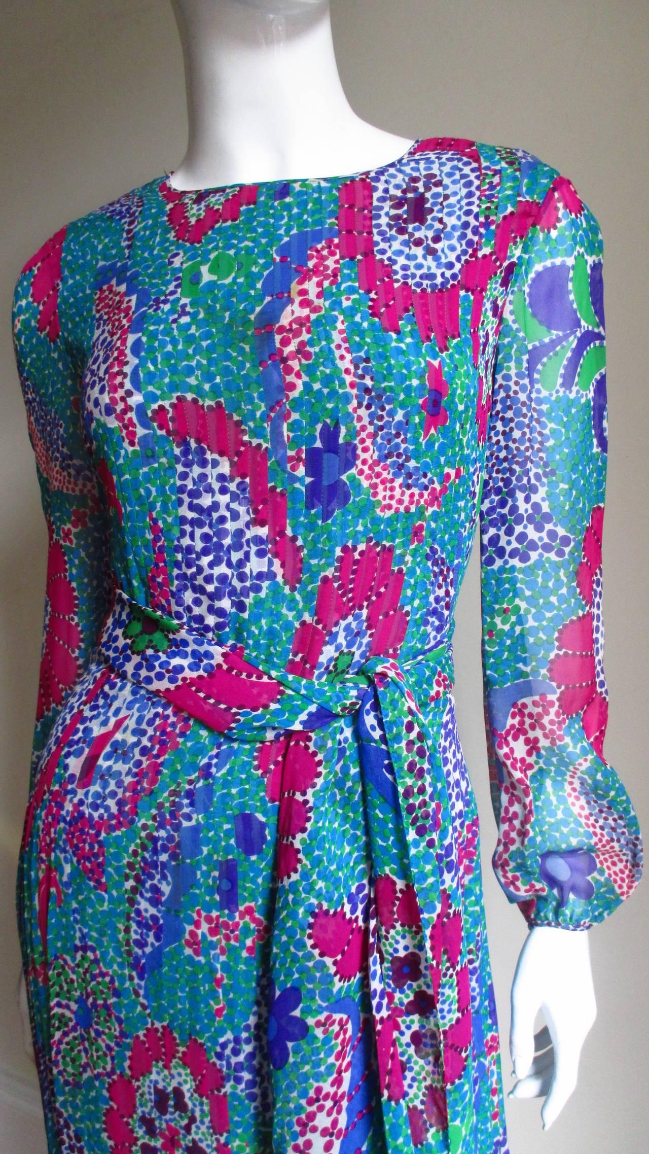 1960s Pierre Cardin Mod Silk Dress 3