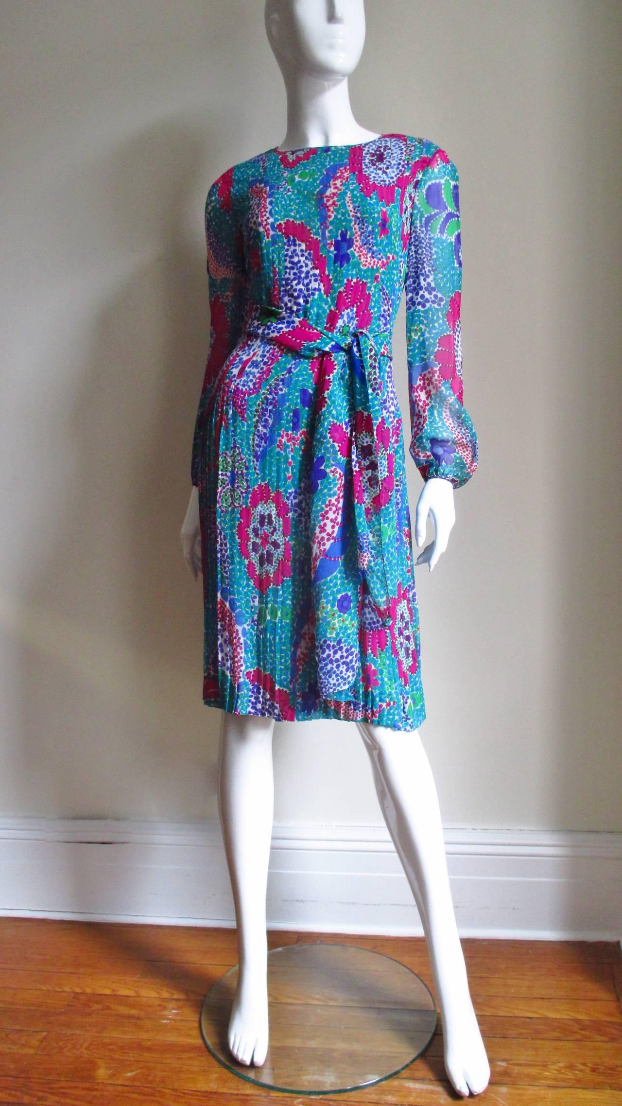 1960s Pierre Cardin Mod Silk Dress 7