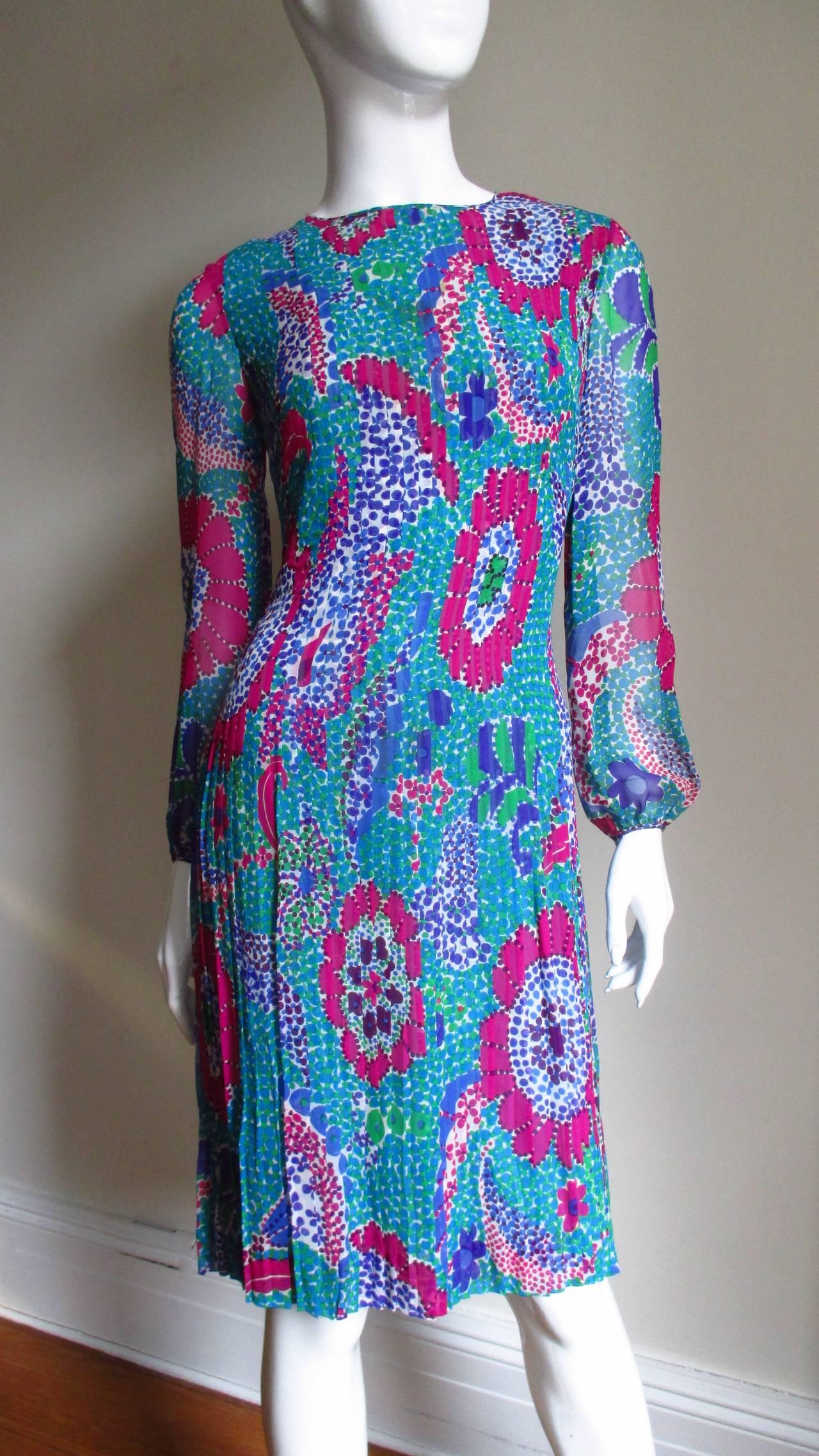 1960s Pierre Cardin Mod Silk Dress 5