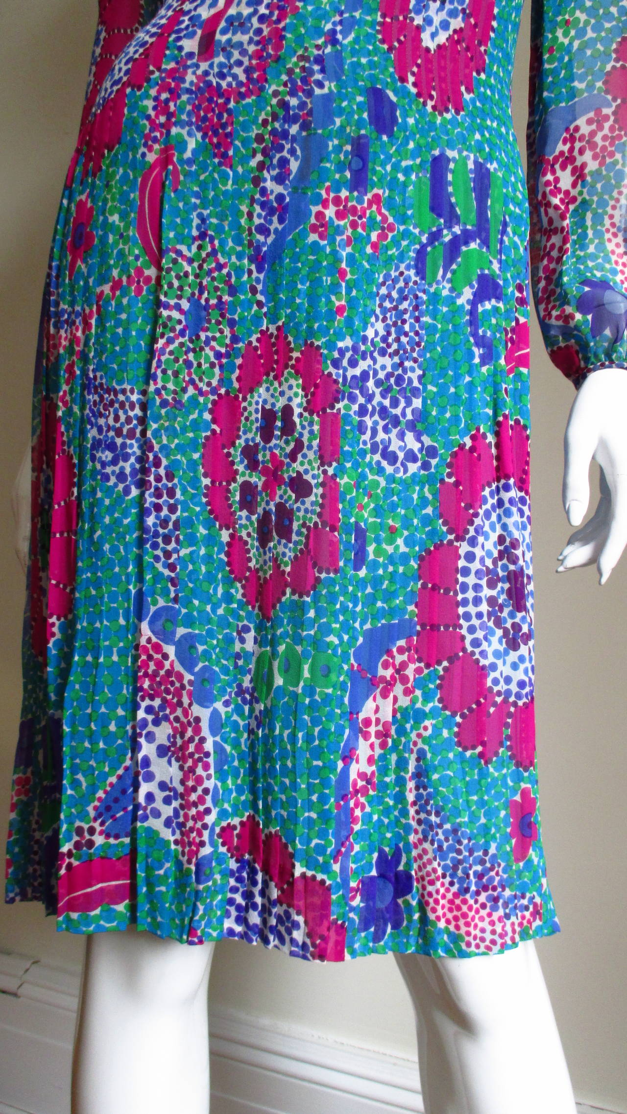 1960s Pierre Cardin Mod Silk Dress 4