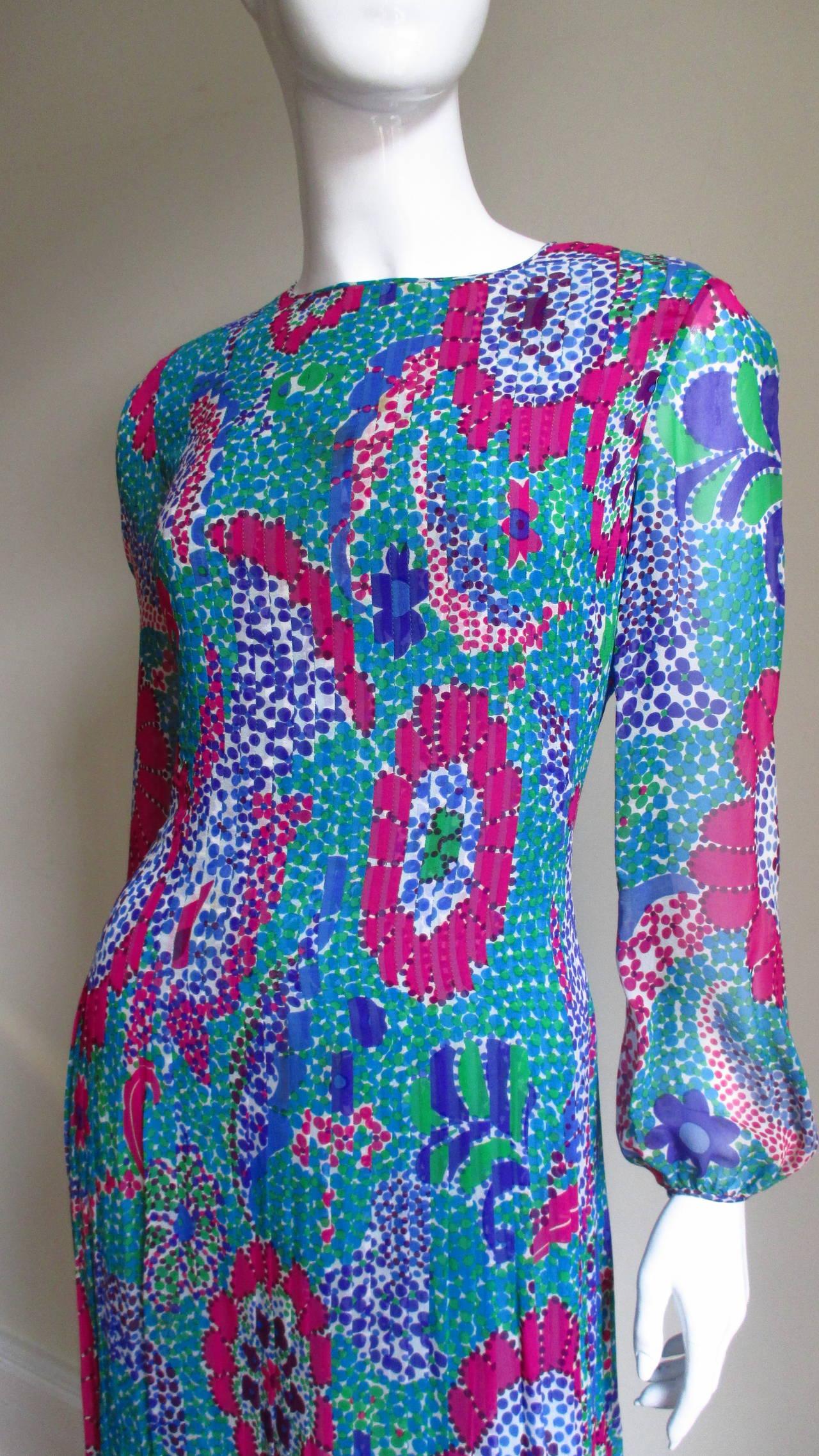 1960s Pierre Cardin Mod Silk Dress 2