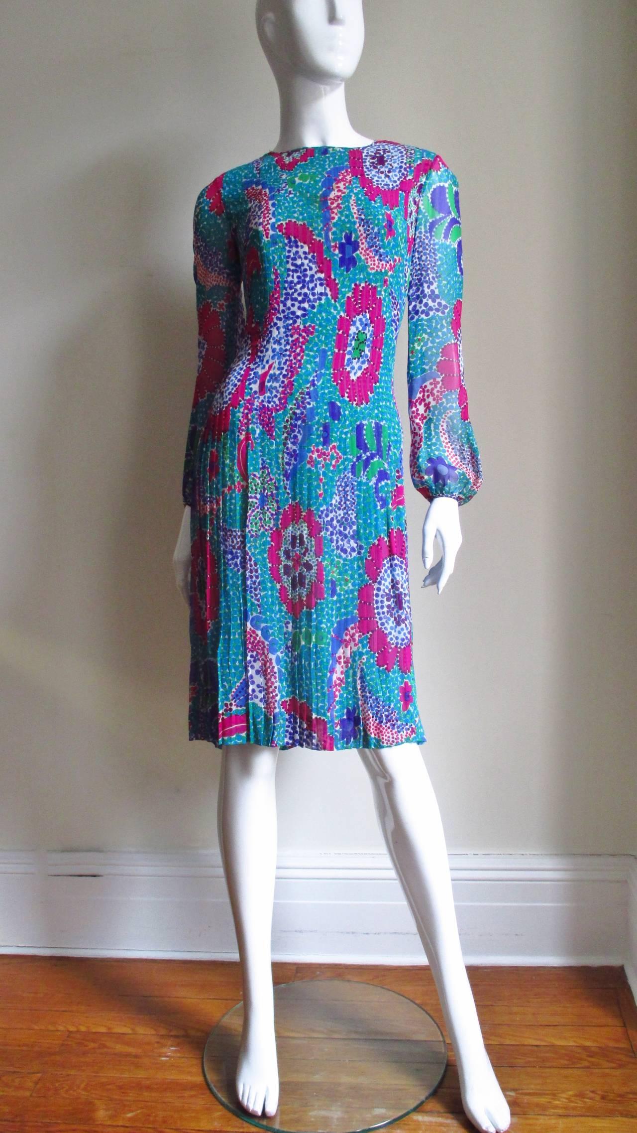 1960s Pierre Cardin Mod Silk Dress 6