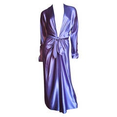 Jackie Rogers Silk Plunge Dress & Wrap
