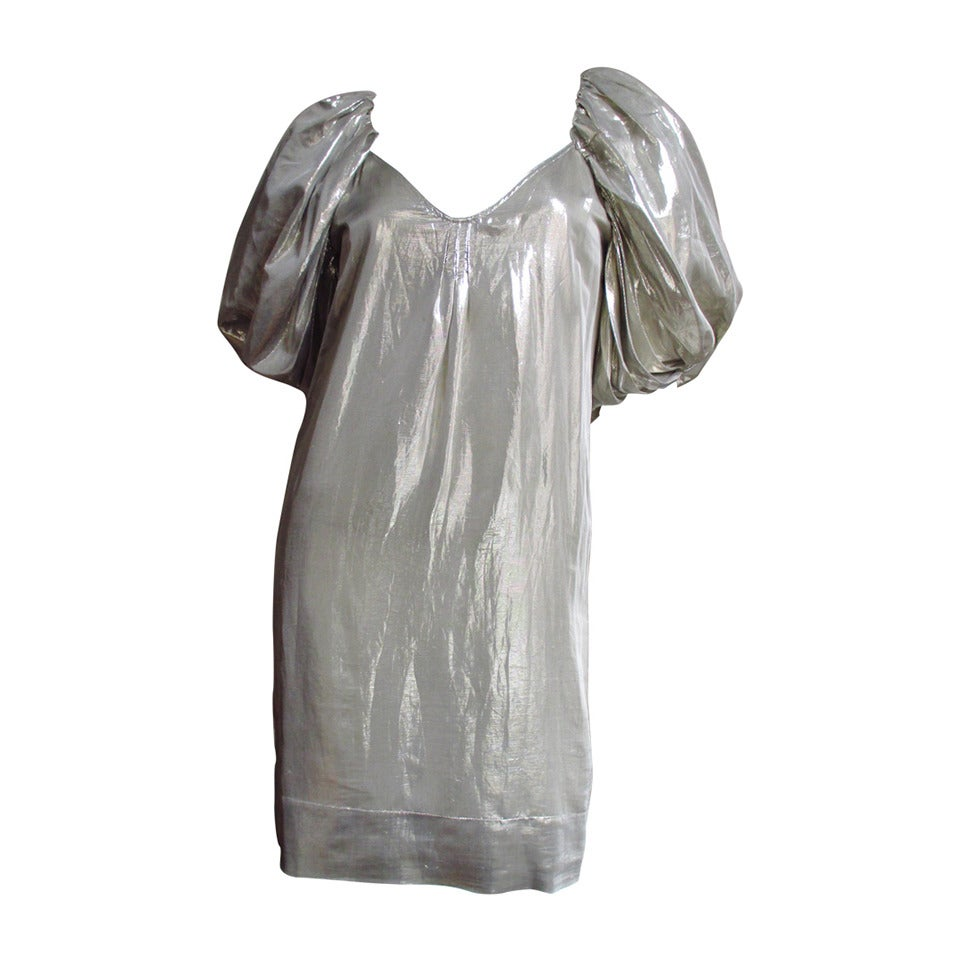 1990s Stella McCartney Silver Silk Dress