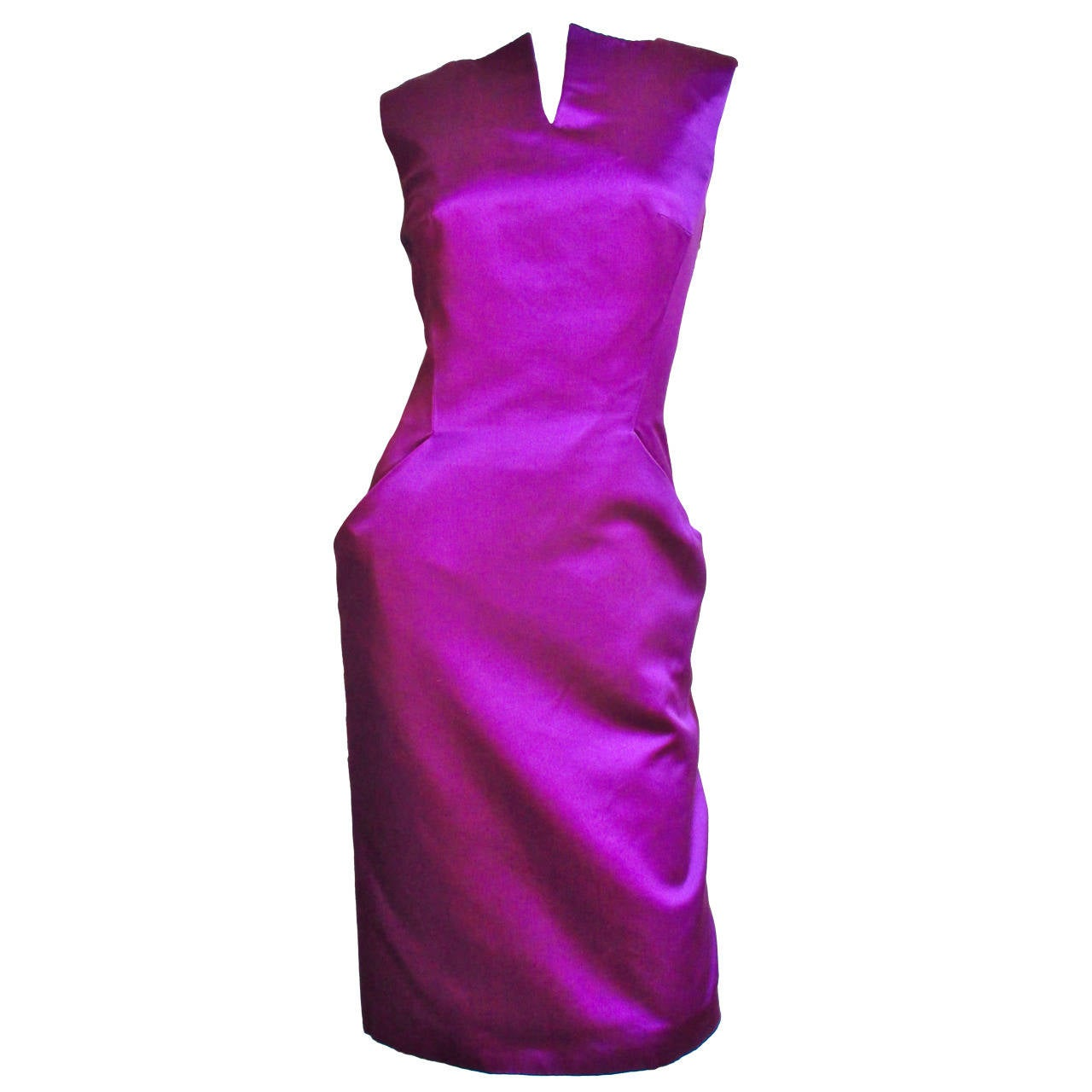 Alexander McQueen Silk Deep V Back Dress For Sale
