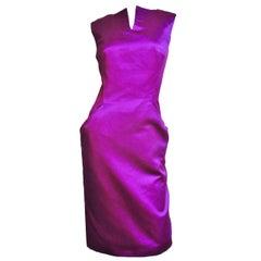 Alexander McQueen Silk Deep V Back Dress