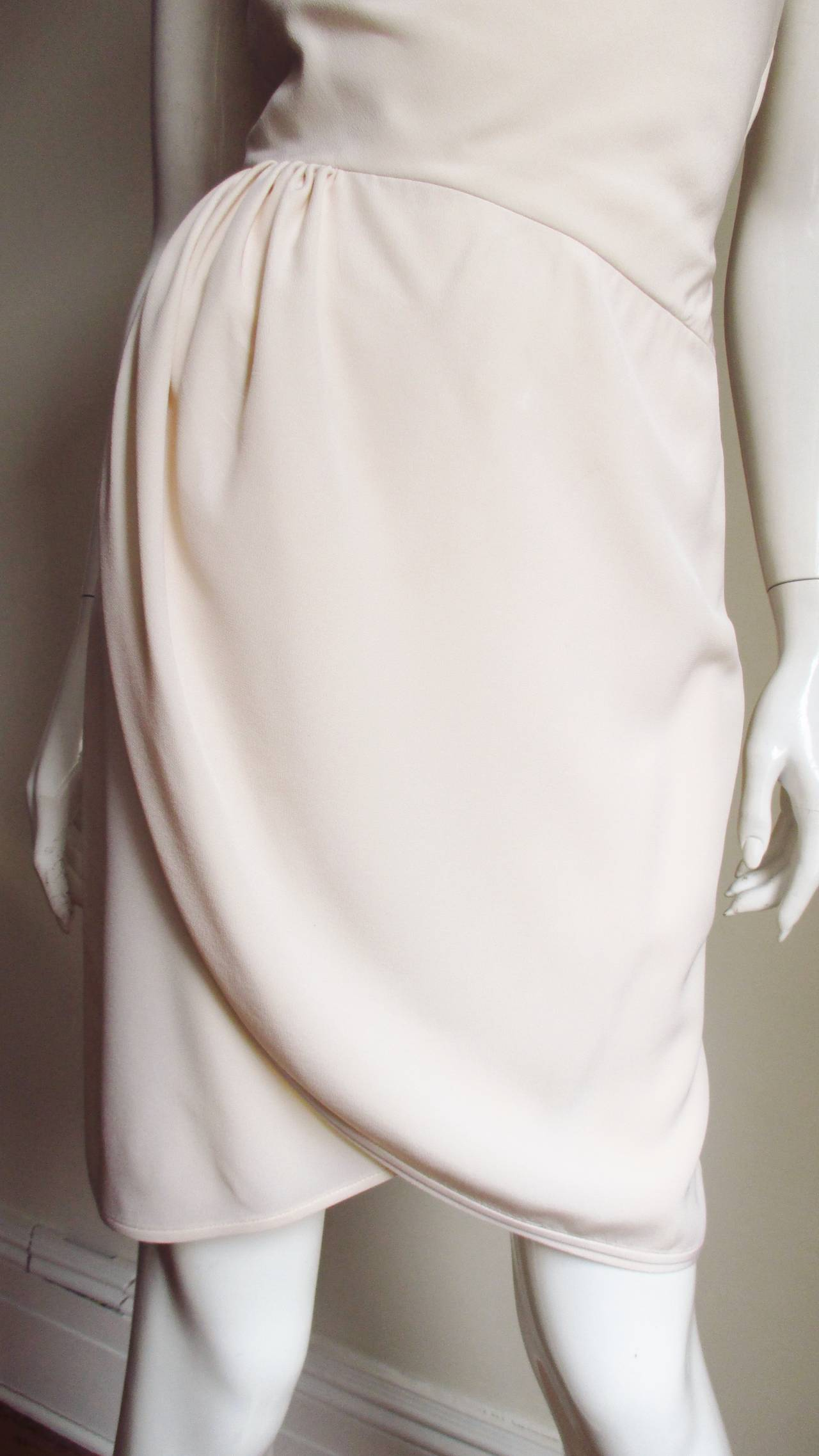 Valentino Boutique One Shoulder Wrap Dress In New Never_worn Condition For Sale In New York, NY