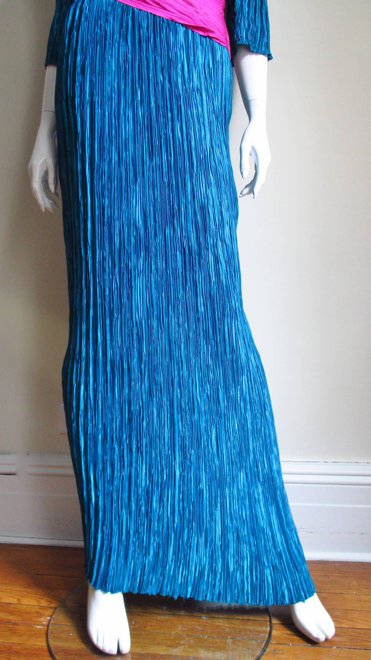 Mary McFadden Couture Colorblock Plunge Gown 4