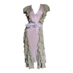 Stella McCartney Silk Dress with Ruffles
