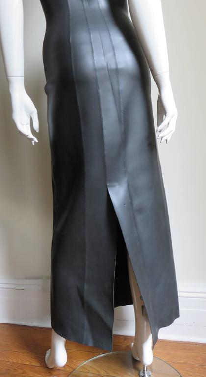 Jean Paul Gaultier Scuba Cheongsam Maxi Dress 6
