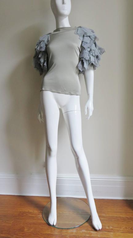 Fabulous Alexander McQueen Net Sleeve Silk Top 5
