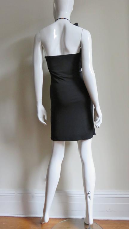Gucci Organza Ruffle Neck Halter Dress 5