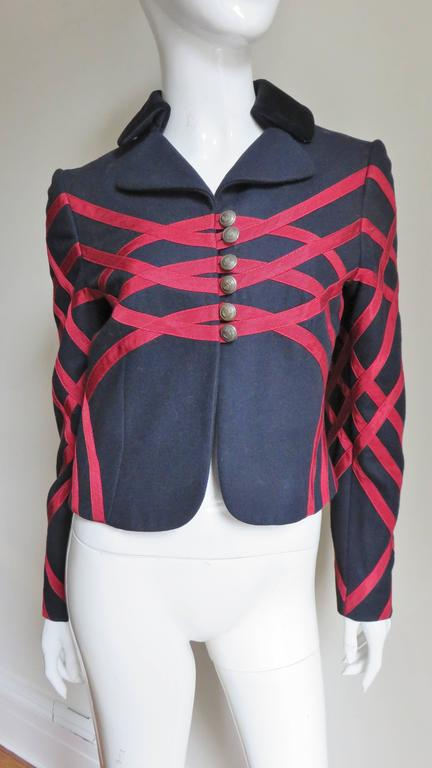 Moschino Geometric Pattern Jacket In Good Condition For Sale In Water Mill, NY