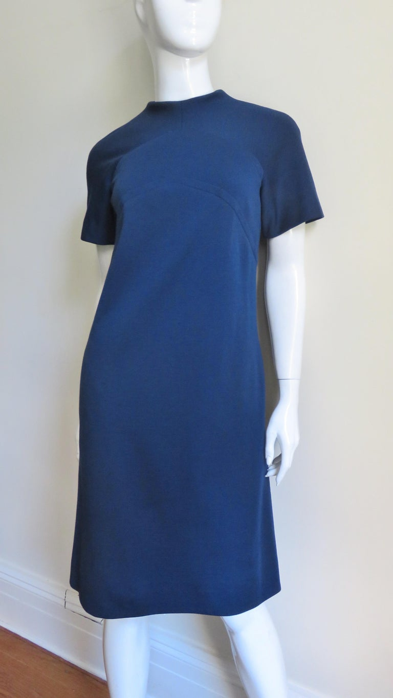 Pauline Trigere 1960s Dress and Hood In Good Condition For Sale In Water Mill, NY
