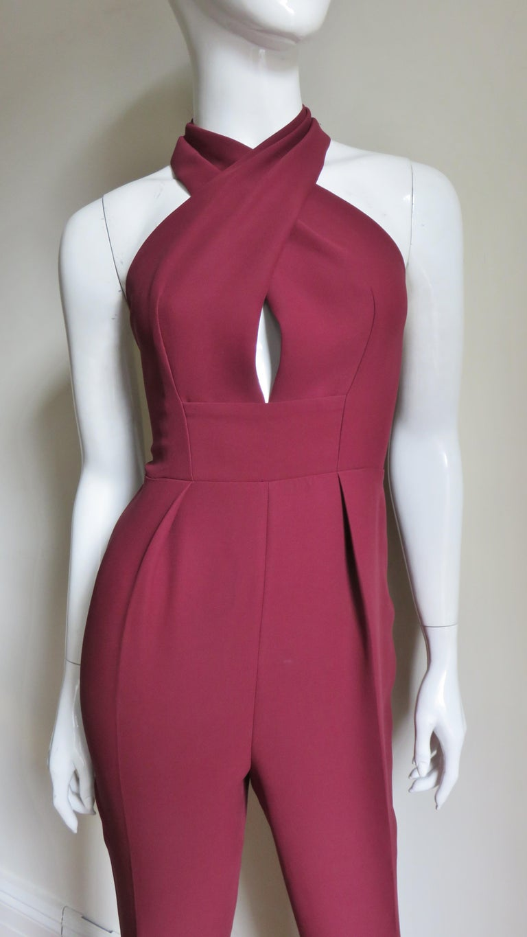 Gucci Silk Halter Jumpsuit In Excellent Condition For Sale In New York, NY