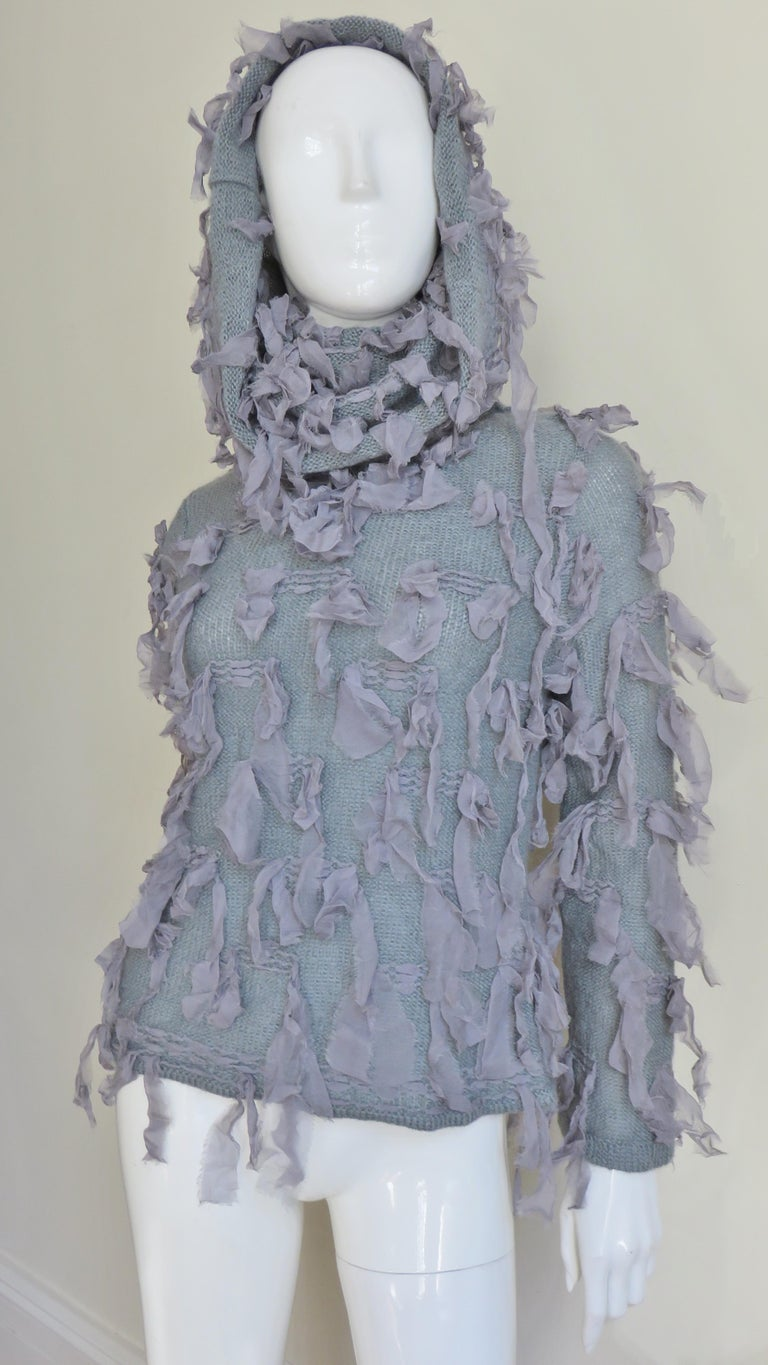 Christian Dior Fringe Sweater In Good Condition For Sale In New York, NY