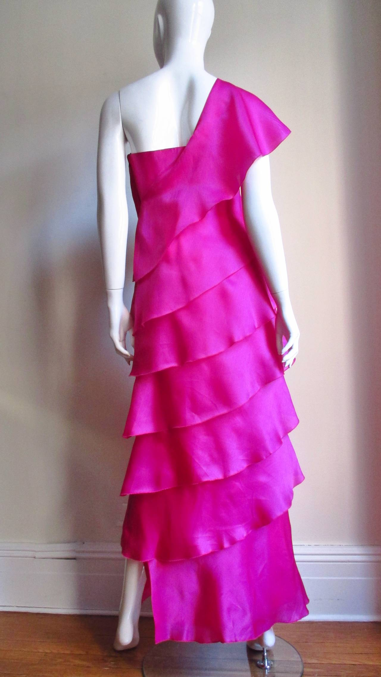 Stunning Jackie Rogers Silk Gown W Shrug 9