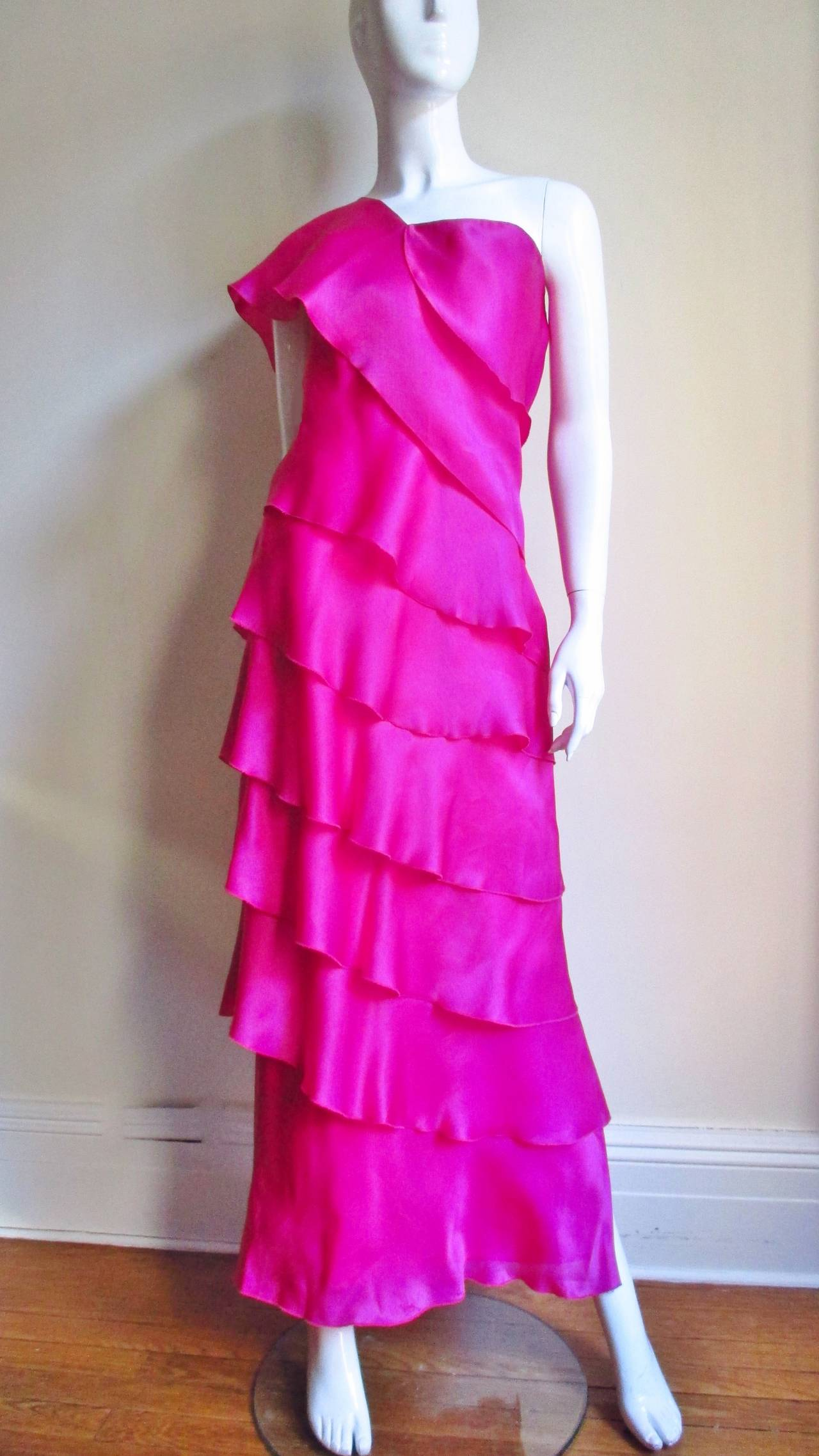 Stunning Jackie Rogers Silk Gown W Shrug 5