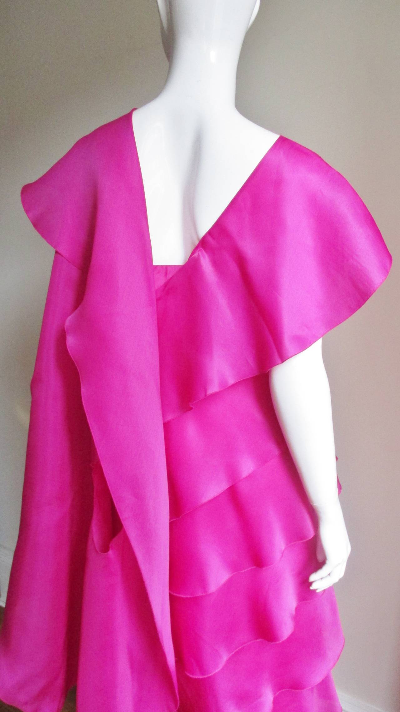 Stunning Jackie Rogers Silk Gown W Shrug 7