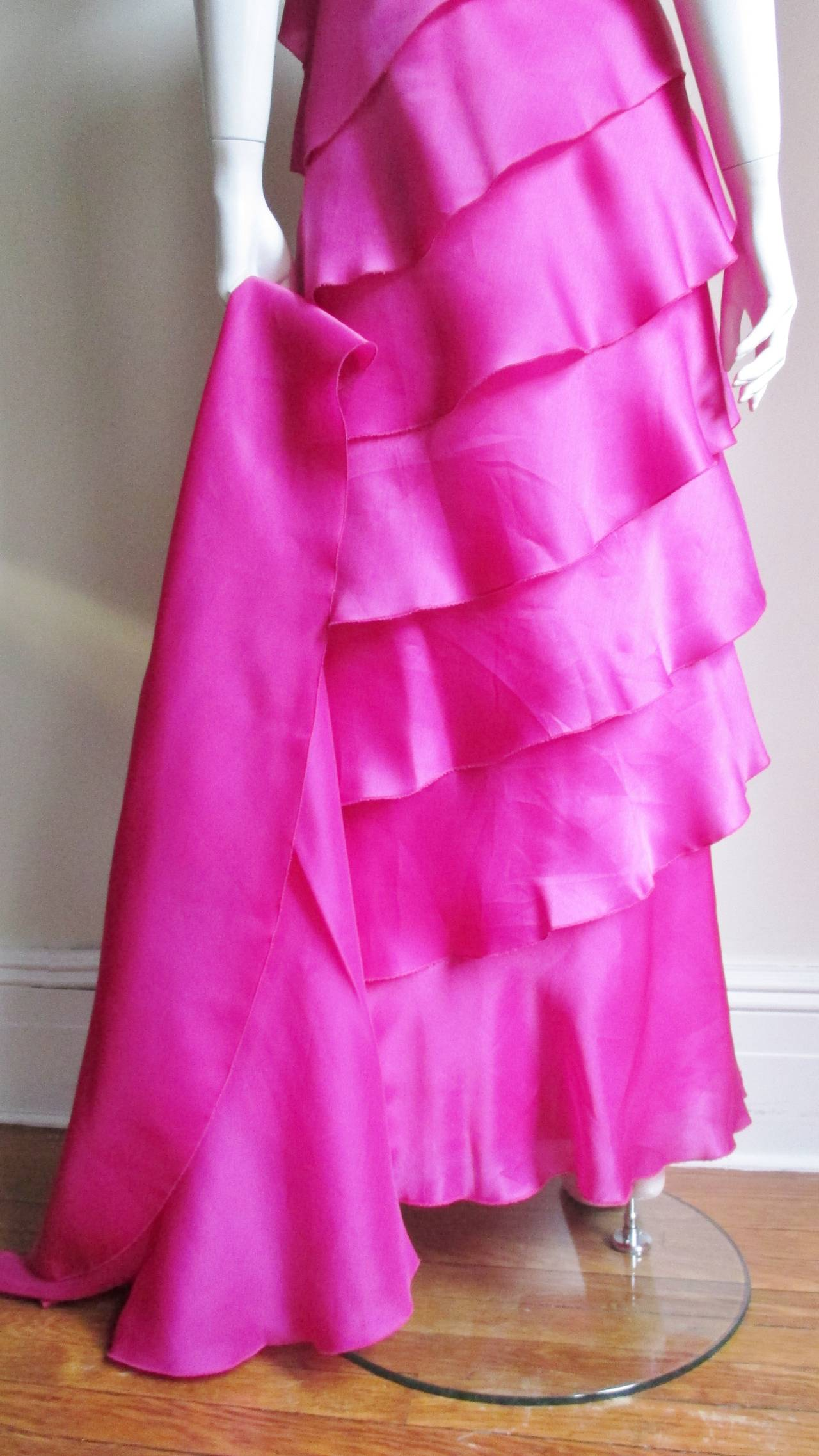 Stunning Jackie Rogers Silk Gown W Shrug 8